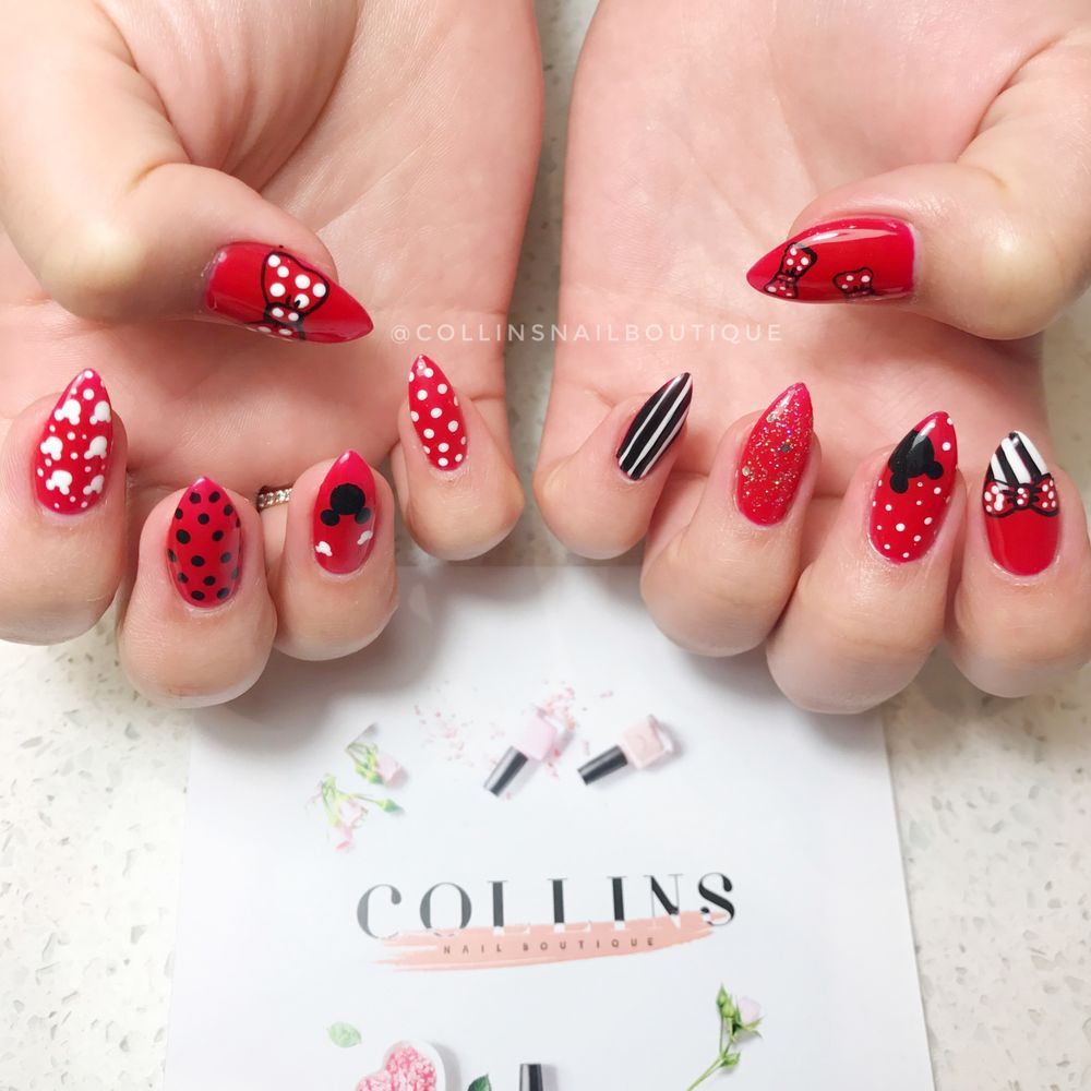 Gel Nails Minnie Mouse Nail Art Yelp