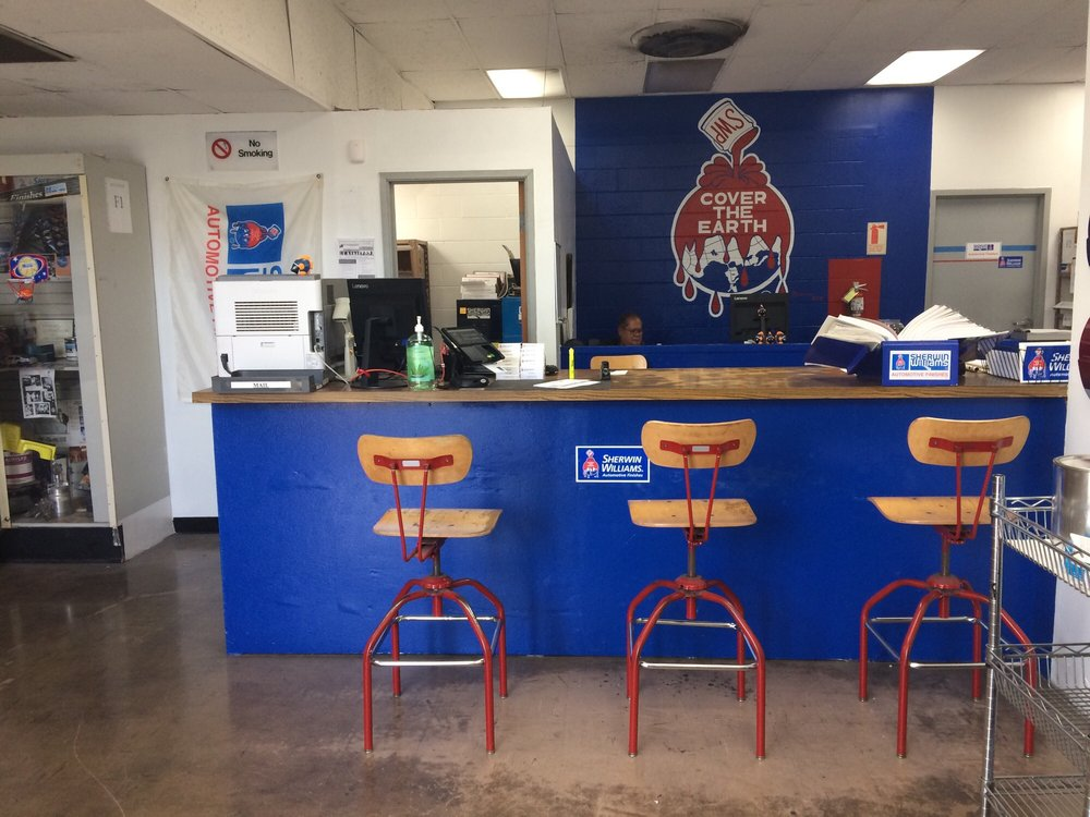 Sherwin Williams Auto Paint >> Store Front Counter Yelp