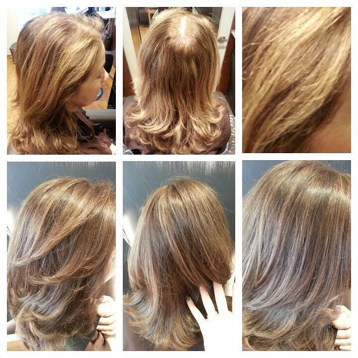 Before After Balayage Highlights Grey Hair Color By Lisa Fukuda