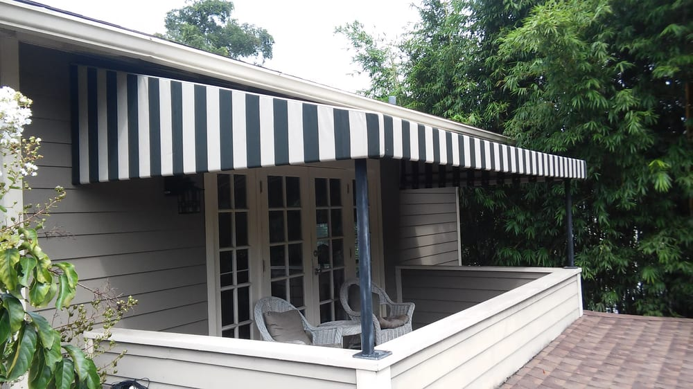 Recover Of A Residential Second Floor Patio Awning Delany Park