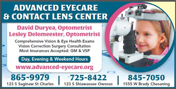 Advanced Eyecare Contact Lens Center: 1555 Brady St, Chesaning, MI
