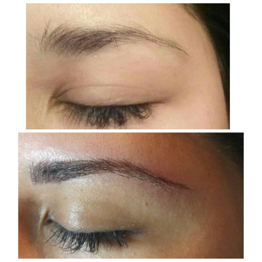Semi Permanent Eyebrow Tattoo Microblading Before And After Yelp