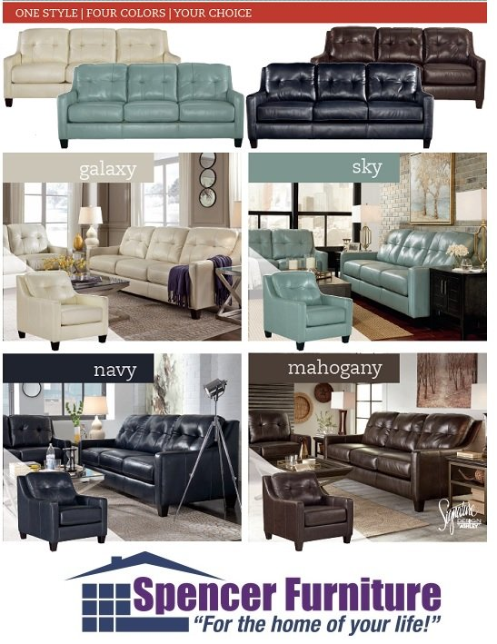 Leather Sofas And Chairs At Spencer Furniture Spencer Ma