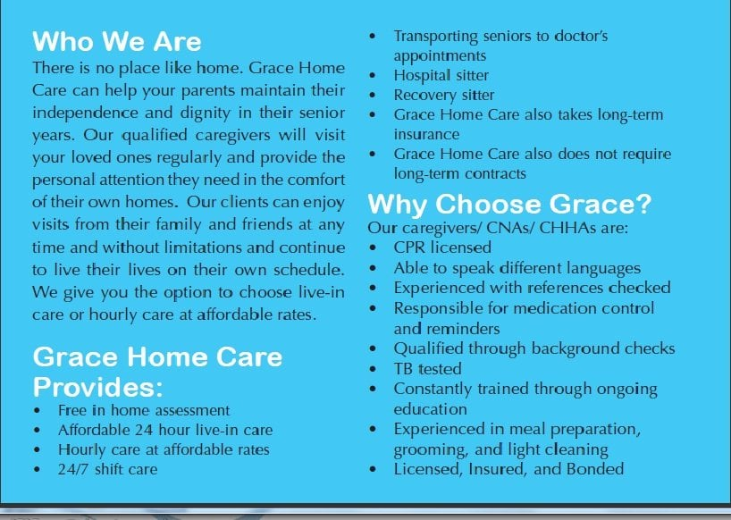 Grace Home Care Home Health Care 615 Las Tunas Dr