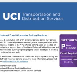 UCI Parking and Transportation Services - 73 Reviews