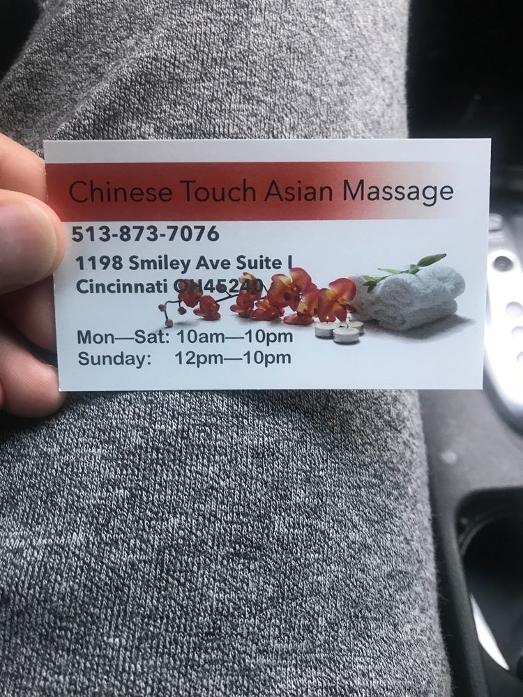 Chinese Touch Asian Massage: 1198 Smiley Ave, Cincinnati, OH