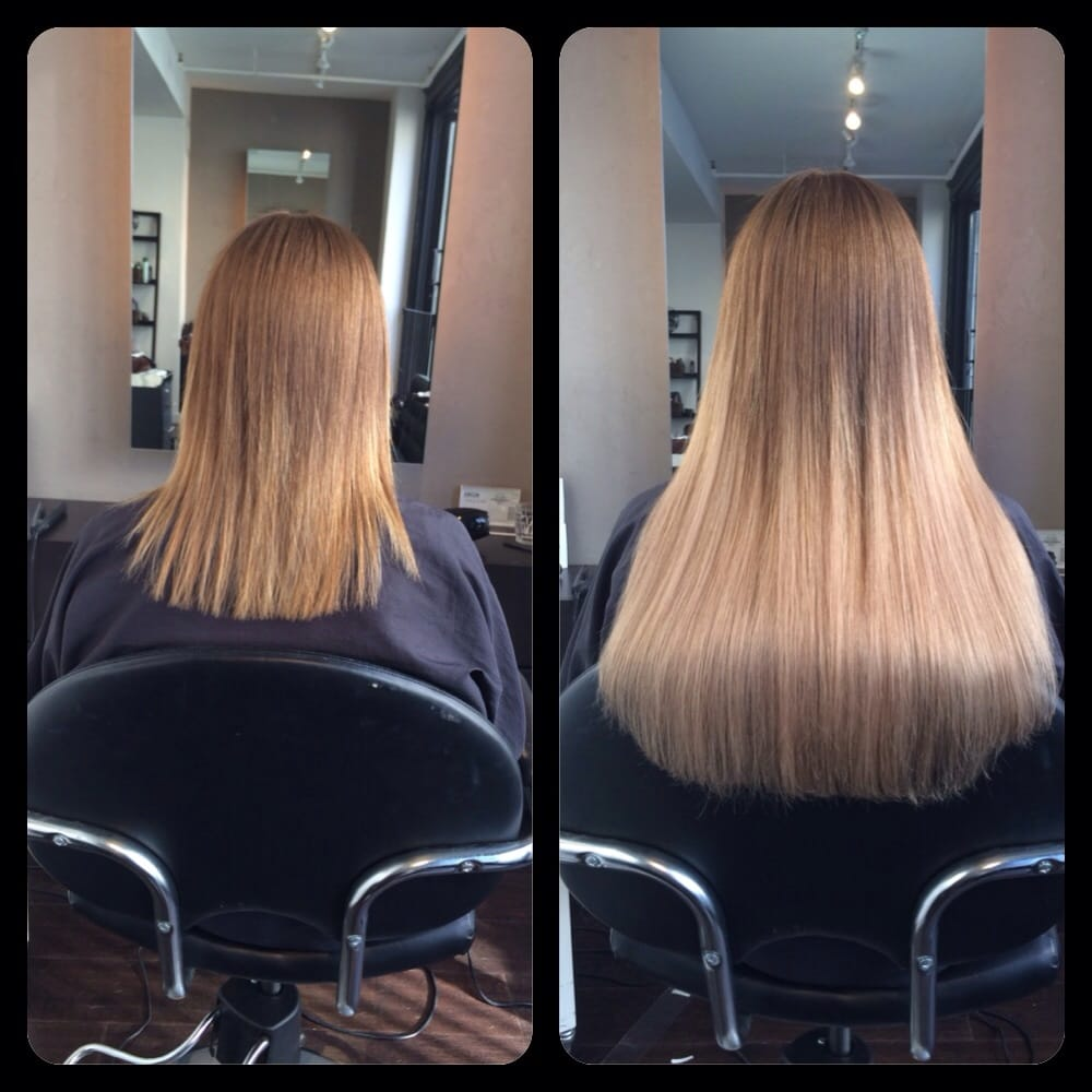 Hair Dreams Tape Extensions Before And After By Lauren Mae Yelp