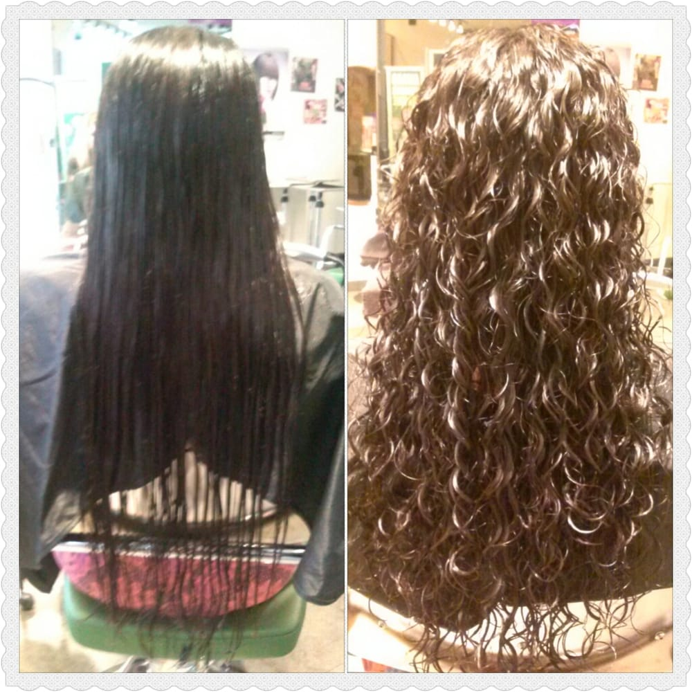 paul mitchell school haircut price before and after spiral perm and haircut done by 5411