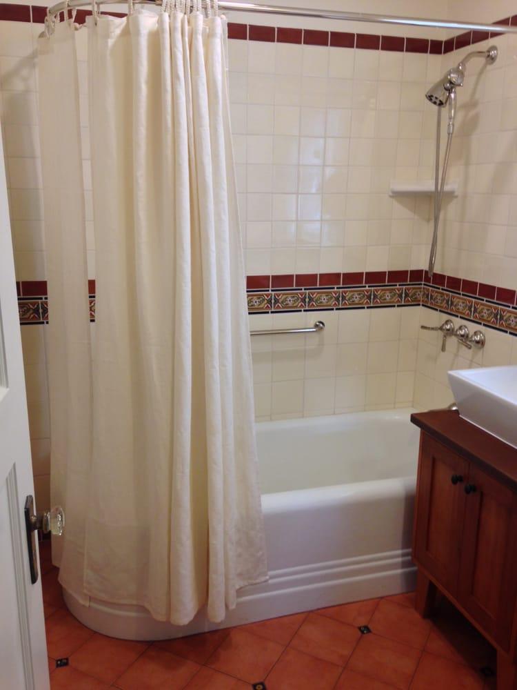 talavera tile bath with hemp shower curtain yelp