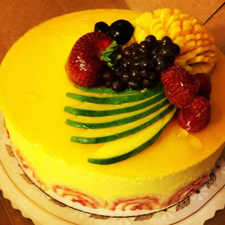 Mango Mousse Cake By Flowers Bakery Sorry We Cut Into It Before