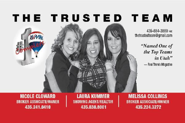 The trusted team remax complete real estate agents 822 e main photo of the trusted team remax complete grantsville ut united the trusted team business card colourmoves