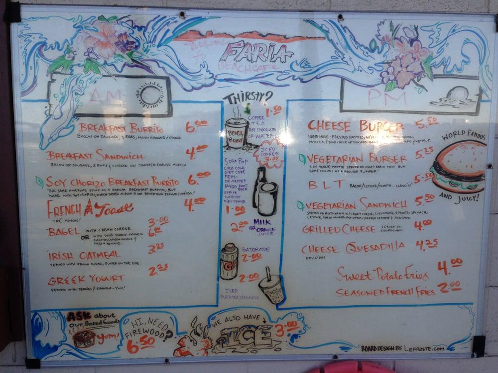 Faria Beach Cafe Ventura Ca Groupon Lunch Menu Yelp