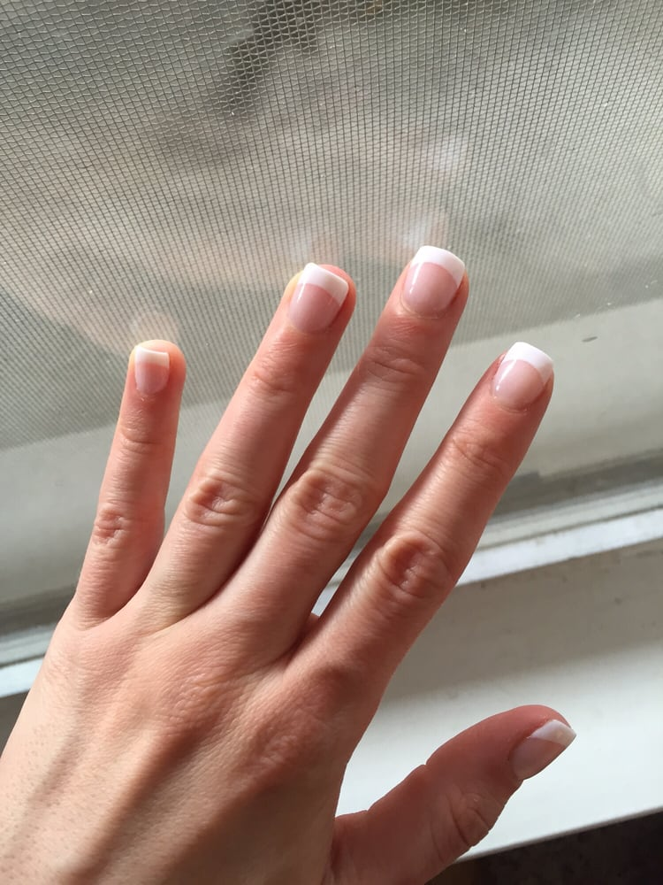 Nexgen French manicure. This is what they can do with real nails. - Yelp
