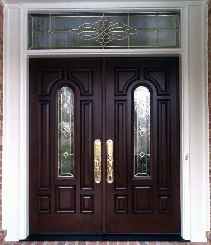 Provia signet fiberglass french entry door with sidelights for Front door with transom above