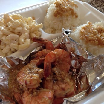 Photo Of Hula S Hawaiian Grill Long Beach Ca United States Garlic Shrimp