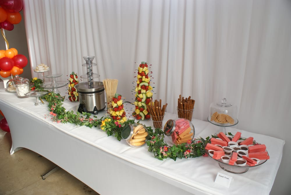 Our Dessert Table Complete With Chocolate Fountain Yelp