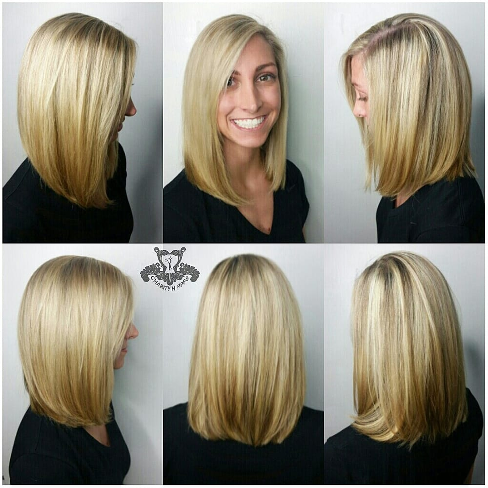 Blonde Highlights And A Long Bob Lob Haircut Yelp