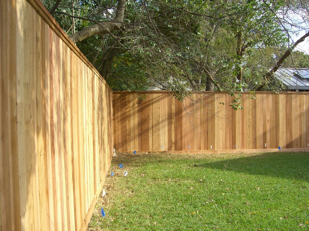 This Is A Privacy Fence With A 2 Btr Fence Picket Trimmed