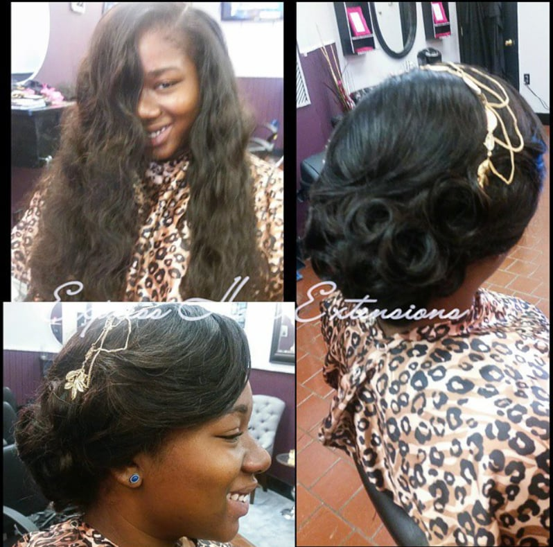 Sew In With Elegant Updo. Perfect For A Prom Wedding Or ...