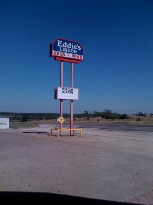 Eddie's Drive-Thru Beer Barn: 4600 E Hwy 36, Hamilton, TX