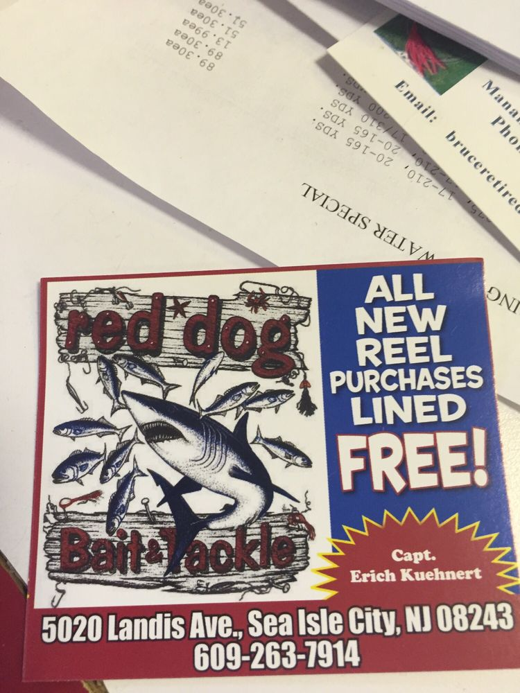 Red Dog Bait & Tackle: 5006 Landis Ave, Sea Isle City, NJ