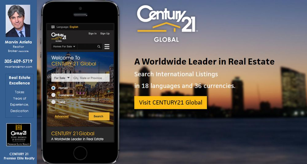 Photo of Marvin Arrieta - Century 21 Premier Elite Realty - Coral Gables, FL, United States. Search international homes for sale, properties for rent, and land for sale on CENTURY 21 Global http://century21inmiami.com/content?id=1653