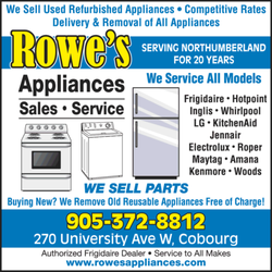 Rowes Furniture ... Used Furniture and Appliances - Cobourg, ON, Canada. Rowes Appliances