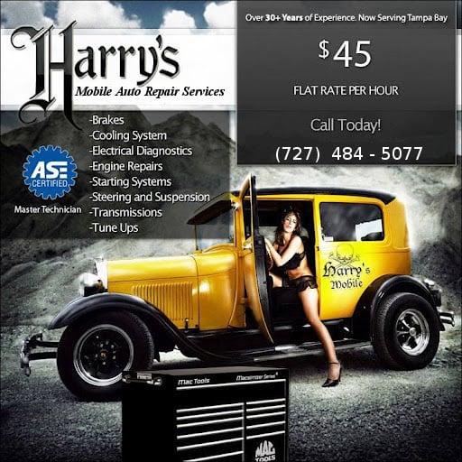 Harry's Mobile Auto Repair Services: 9741 Xenia St, New Port Richey, FL