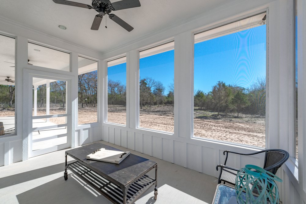 Modern Farmhouse Screen Porch Off Of Master Yelp