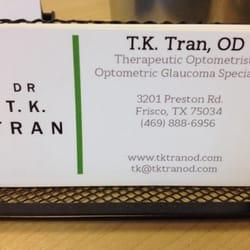Tk tran do 10 reviews optometrists 3201 preston rd frisco photo of tk tran do frisco tx united states business card colourmoves
