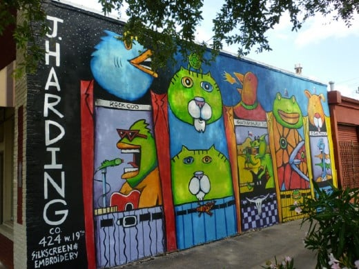 J harding co t 424 w 19th st the for 6 blocks from downtown mural