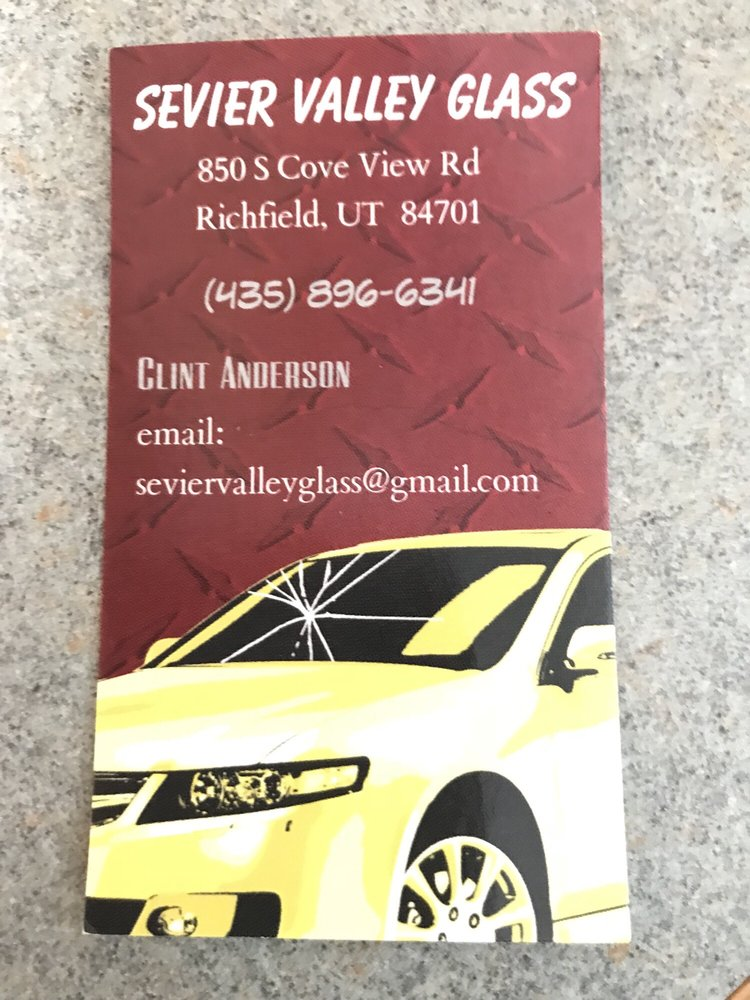 Sevier Valley Glass: 850 Cove View Rd, Richfield, UT