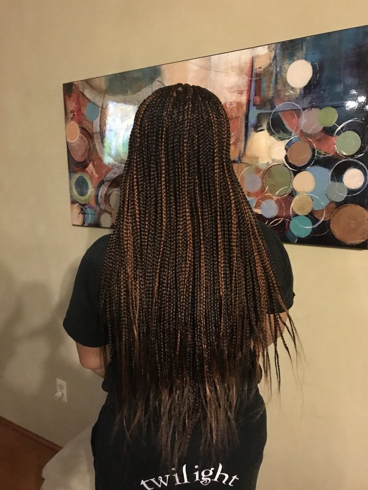 Small Box Braids Length Long Colors Are A 1b30 Blend 30 This