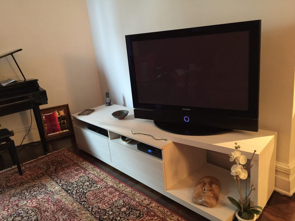 Here 39 S My 3 Piece Tv Console In Maple Yelp
