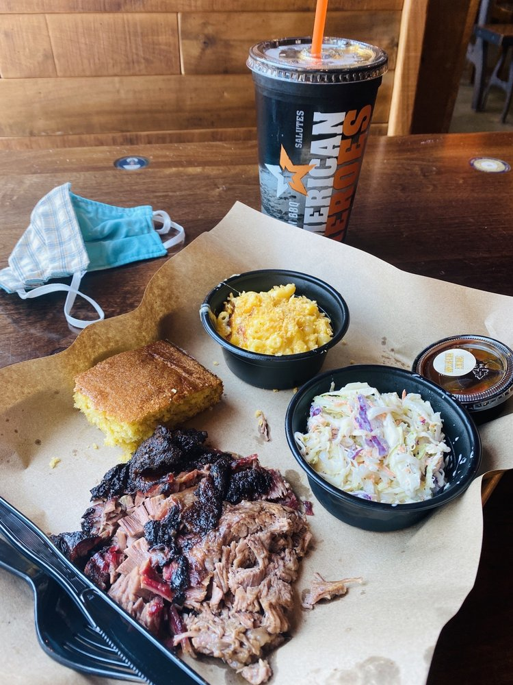 Food from Mission BBQ