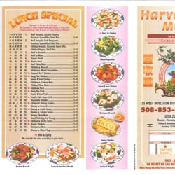 Nancy Chang Restaurant Menu Worcester Ma