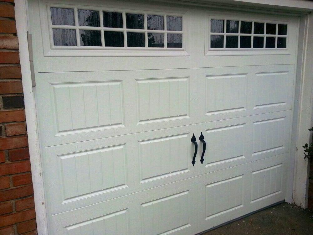 "Amarr Oak Summit Garage Doors amarr oak summit 3000 8'0""x6'6"", short bead board panel design"