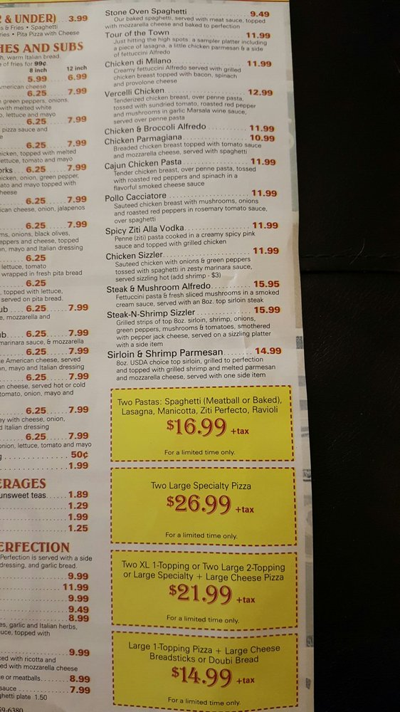 Pizza Perfect On Main: 784 N Main St, Marion, VA