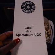 UGC Ciné Cité Internationale - Lyon, France. Projection label des spectateurs UGC