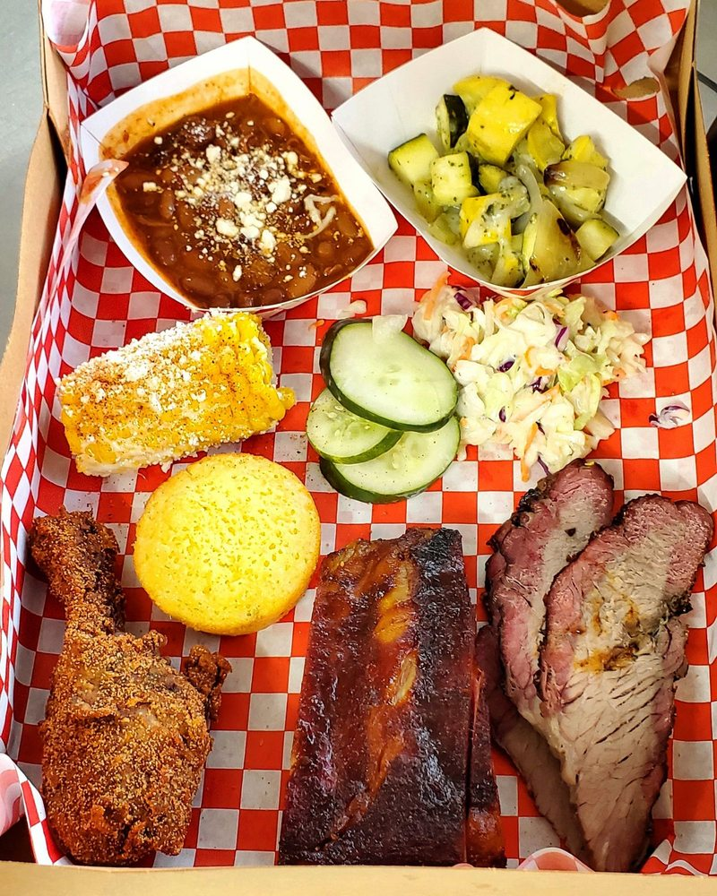 Food from Charly's BBQ & Grill