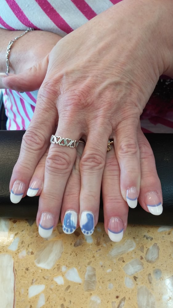 Photo of Citrus Nails - Citrus Heights, CA, United States. Baby shower nail - Baby Shower Nail Art. Baby Boy Footprints! - Yelp