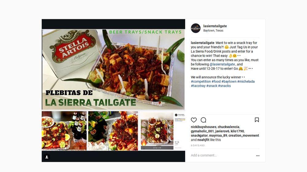 La Sierra Tailgate: 2400 Market St, Baytown, TX