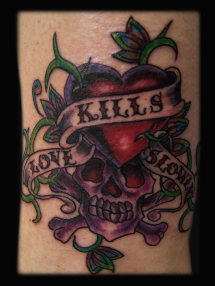 Ed Hardy Love Kills Slowly tattoo - Yelp