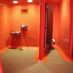 Bathroom Stalls Portland Oregon orange public restroom - local flavor - sw 3rd ave & clay st