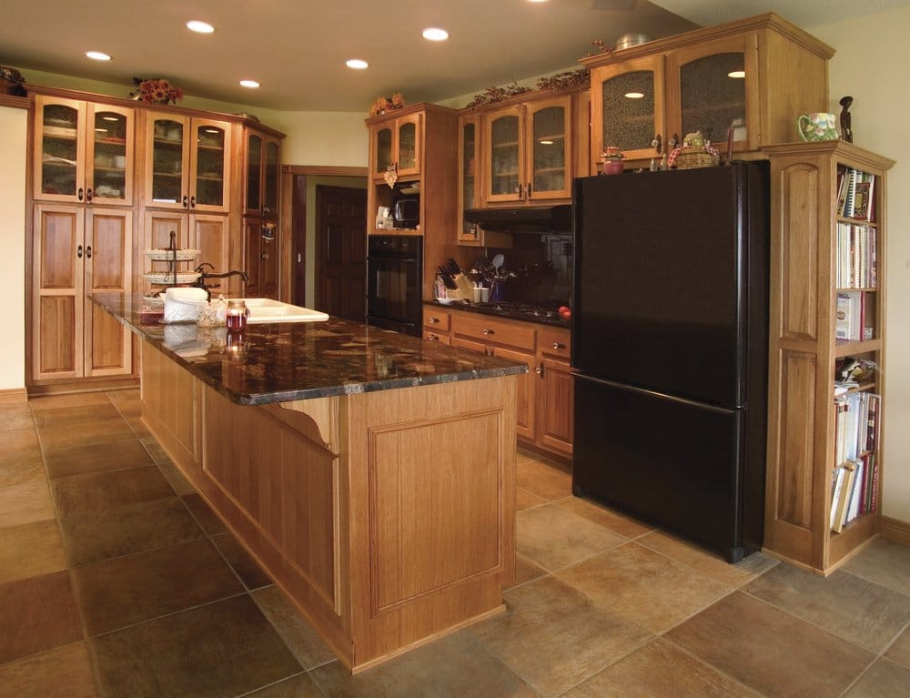 Hickory cabinets with granite countertops home fatare for Kitchen design yelp