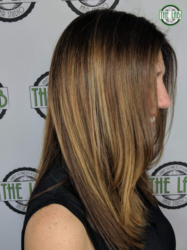 Womans Haircut With Fringe Face Framing Highlights Compliments Of
