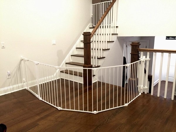 20e6cc081273 Custom Sectional Stair Gate protecting Top and Bottom of Stairs. - Yelp