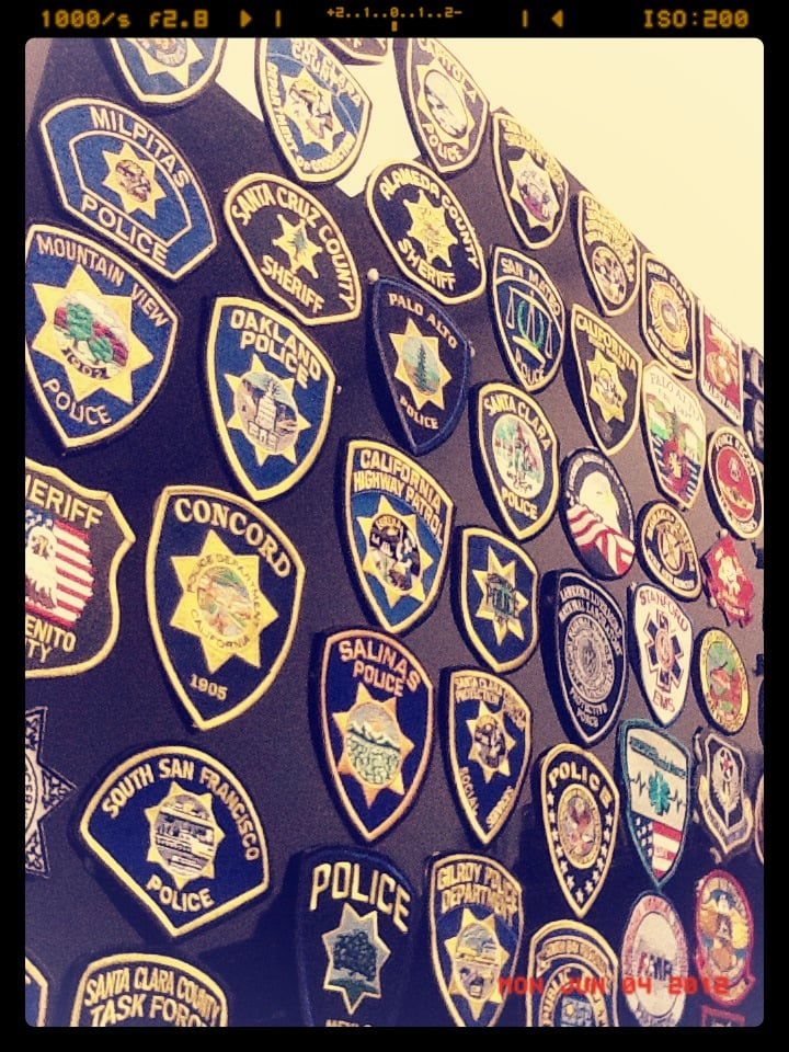 Check out the patches of all the Law Enforcement and
