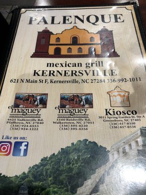 Palenque Mexican Grill 621 N Main St Kernersville, NC