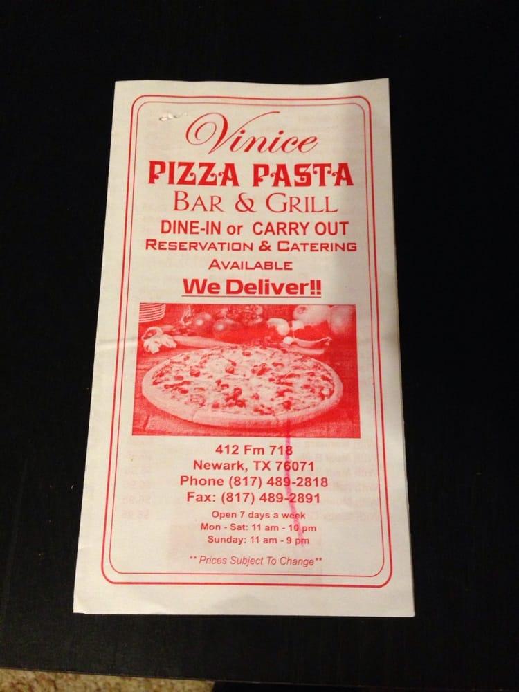 Venice Pizza & Pasta: 412 Fm 718, Newark, TX